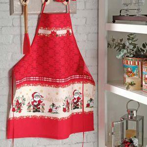 Delantal de Cocina Navideño Papa Noel