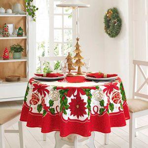 Mantel de navidad Poinsetias II