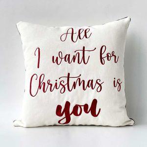 "Funda para cojín Navideño ""All I want for christmas is you"""