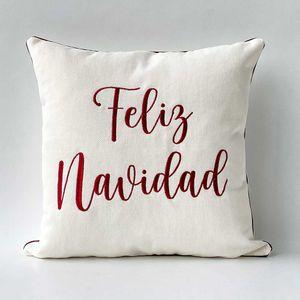 """Funda para cojín Navideño """"Feliz Navidad"""""""