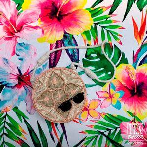 Toalla de Playa Floral Blanco