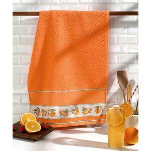 Paño de cocina para bordar Picnic Naranjas