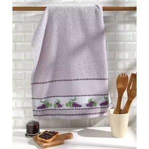 Paño de cocina para bordar Picnic Uvas