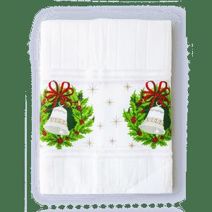Toalla Navidad Patchwork Campanas