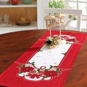 Camino Decorativo de Navidad Poinsetias